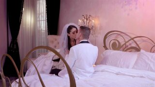 A newly wedded couple spend their first night fucking - avi love