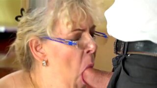 Granny blowjobs and rimming